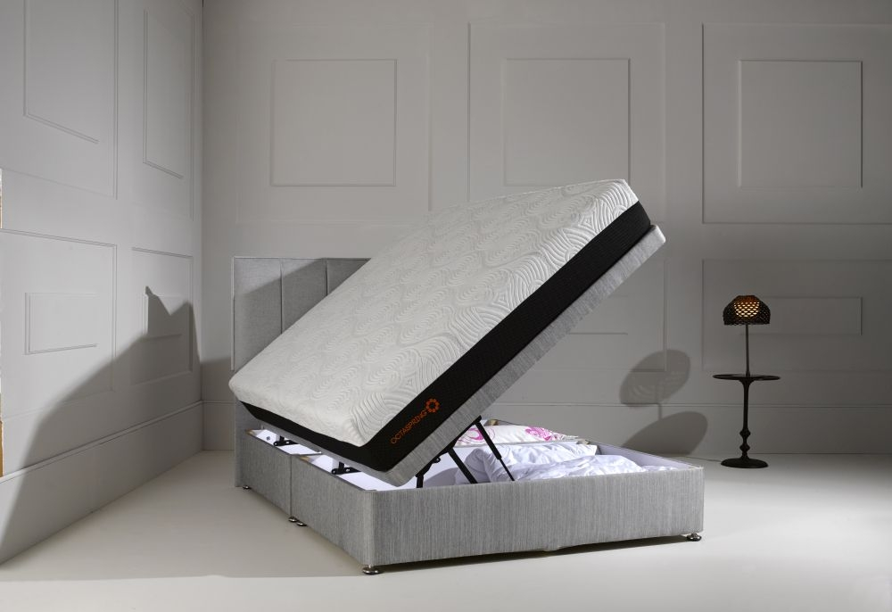 Dormeo Octaspring Ottoman Fabric Divan Bed with 5500 Mattress