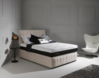 Dormeo Octaspring Roma Fabric Divan Bed with 8000 Mattress