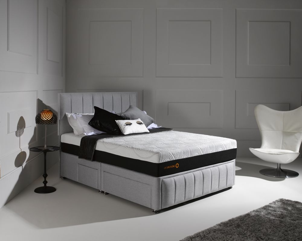 Dormeo Octaspring Roma Fabric Divan Bed with 6500 Mattress