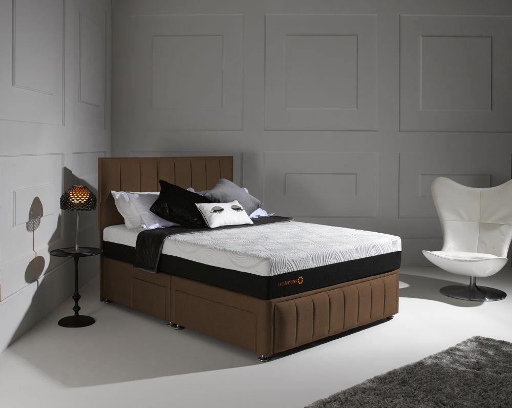 Buy Dormeo Octaspring Roma Fabric Divan Bed With Tribrid Mattress Online Cfs Uk