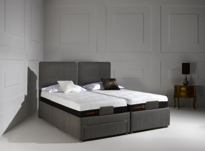 Dormeo Octaspring Sorrento Adjustable Midnight Fabric Divan Bed with 6500 Mattress