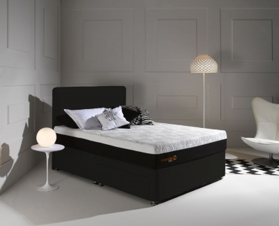 Dormeo Octaspring Tiffany Midnight Black Fabric Divan Bed with Hybrid Mattress