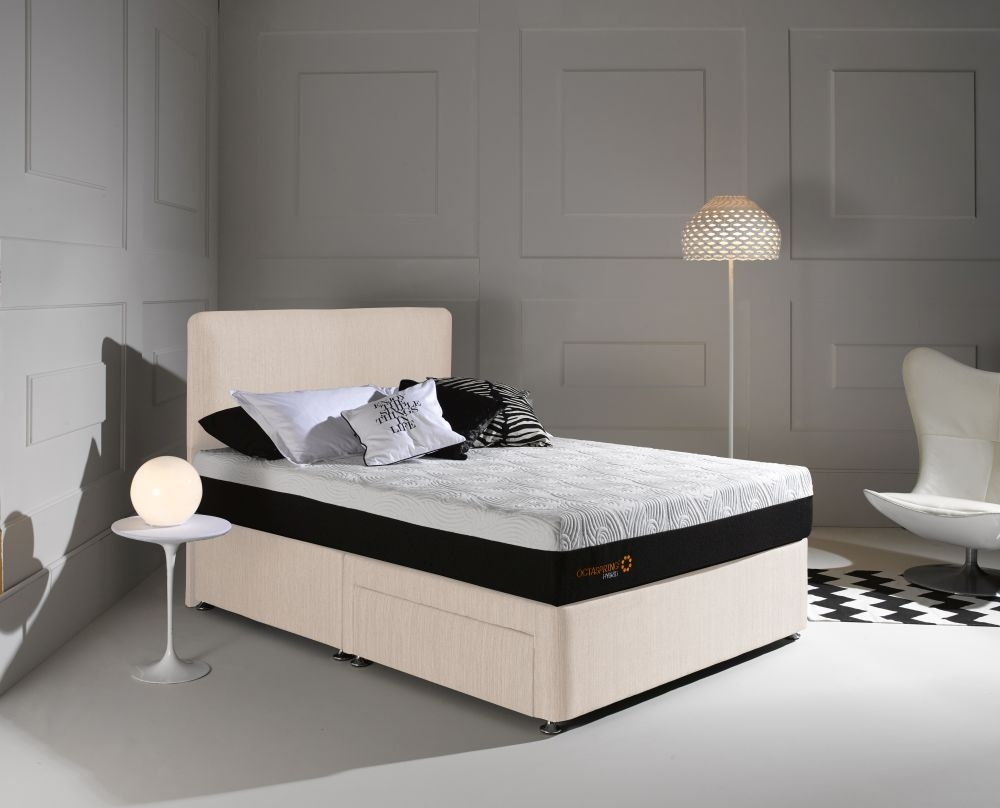 buy dormeo octaspring tiffany white sand fabric divan bed