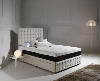 Dormeo Octaspring Venice Fabric Divan Bed with Hybrid Mattress