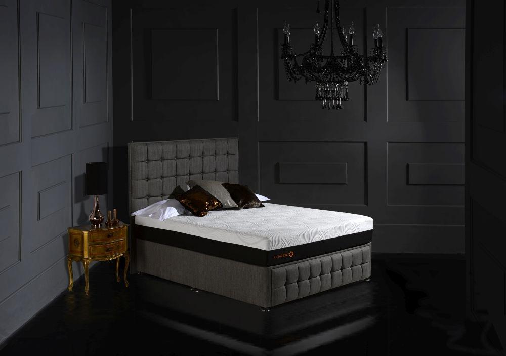 Dormeo Octaspring Venice Fabric Divan Bed with 8500 Mattress
