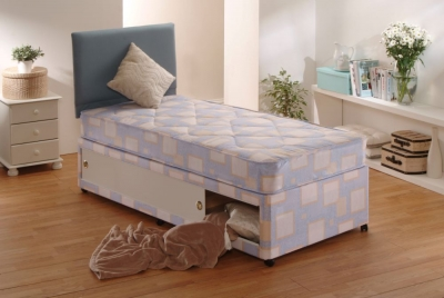 Dura Beds Light Brown Winchester Light Quilted Divan Bed - 3ft Single