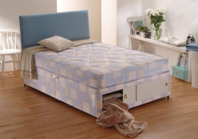 Dura beds winchester low quilted divan bed dura beds for Low divan beds