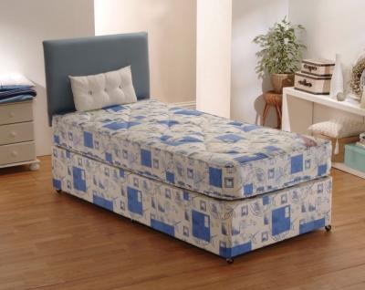 Dura Beds Light Brown Windsor Deep Quilted Divan Bed 3ft Single