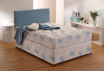 Dura Beds Light Brown Stitchbond York Divan Bed