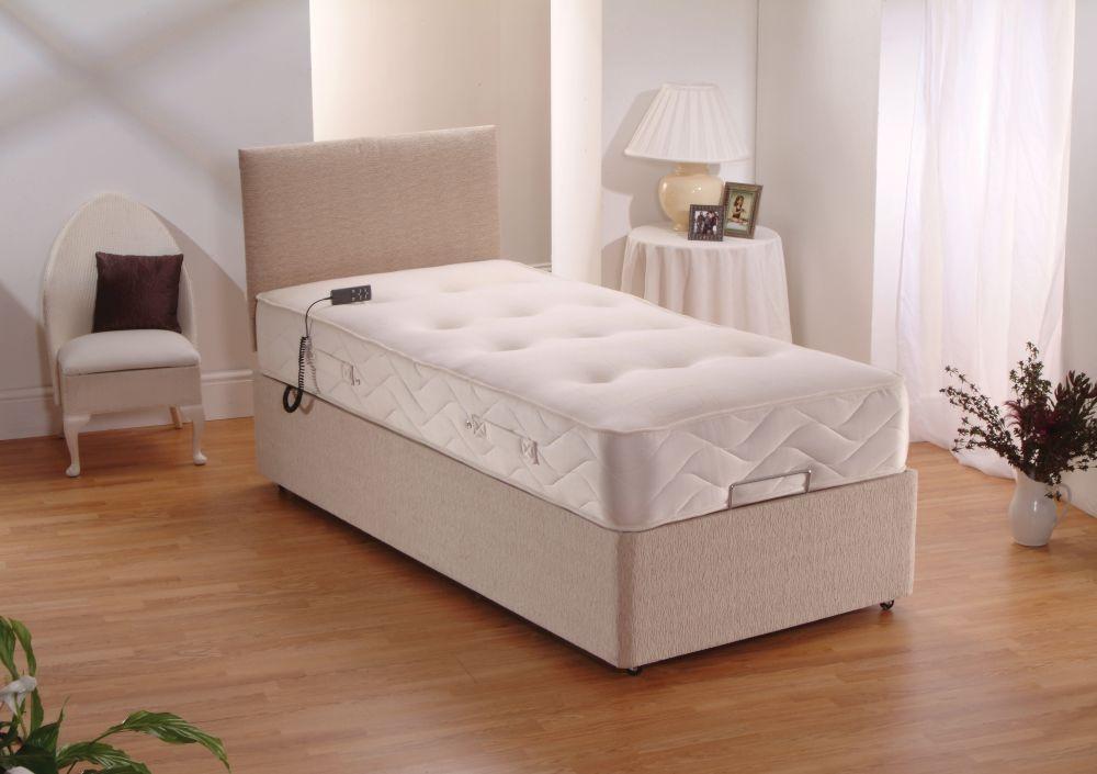 Dura beds duramatic pocket spring electric divan bed for Pocket sprung divan beds sale