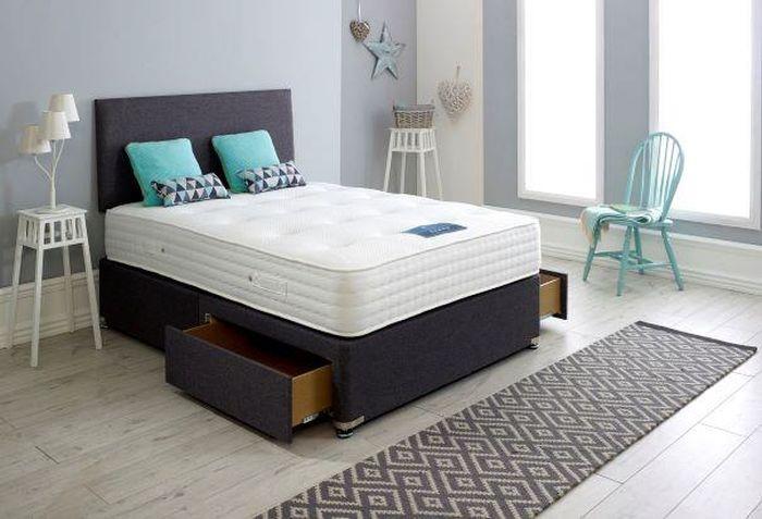 Dura Beds True Seasons Bamboo 1500 Pocket Spring Platform Top Divan Bed