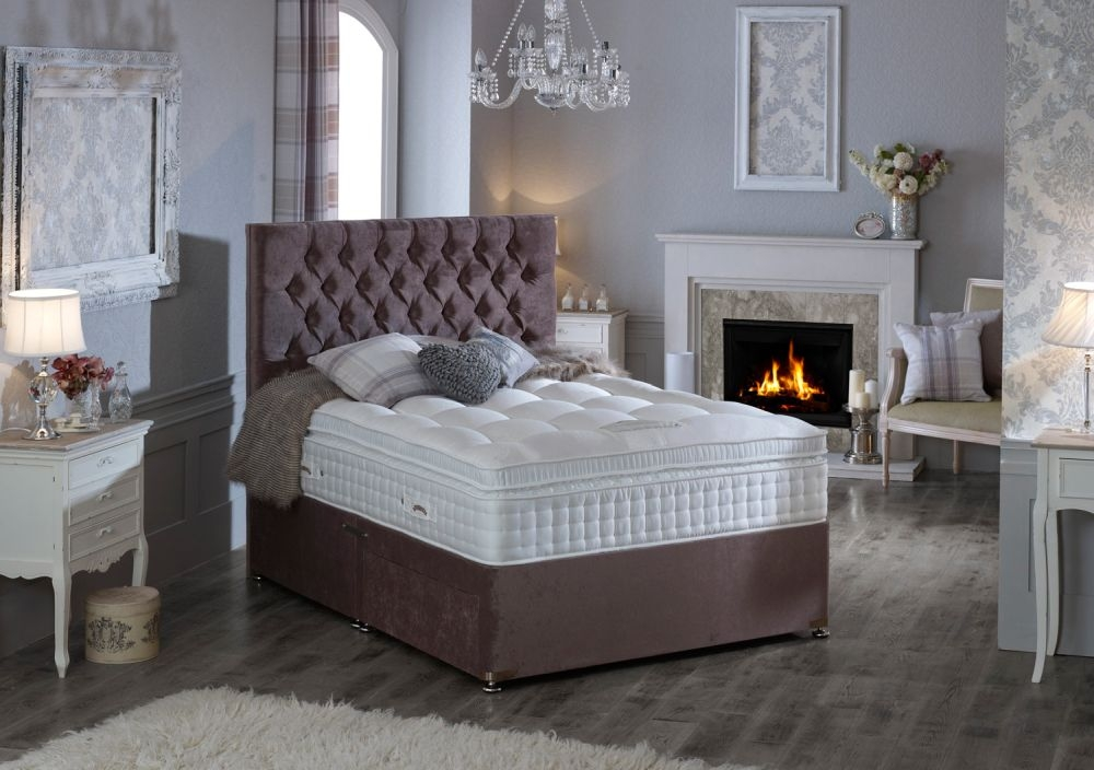 Dura Beds Heritage Natural 3500 Gold Platform Top Divan Bed
