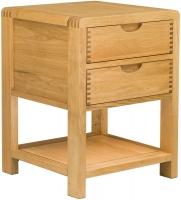 Ercol Bosco Oak 2 Drawer Bedside Cabinet