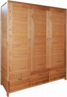 Ercol Bosco Oak 3 Door Wardrobe