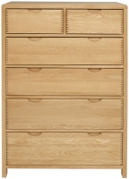 Ercol Bosco Oak 4+2 Drawer Tall Chest