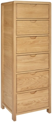 Ercol Bosco Oak 6 Drawer Tall Chest