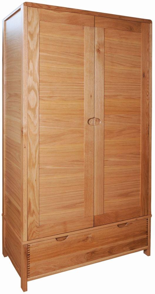 Ercol Bosco 2 Door Wardrobe - Oak