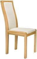 Ercol Bosco Oak Cream Fabric Padded Back Dining Chair (Pair)