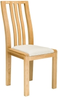 Ercol Bosco Oak Dining Chair with Cream Fabric Seat