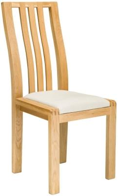 Ercol Bosco Oak Cream Dining Chair
