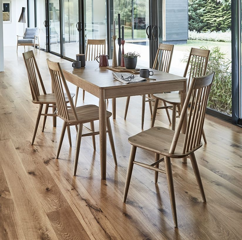 Ercol Capena Medium Extending Dining Table and Chairs - Oak