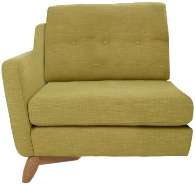 Ercol Cosenza Left Hand Facing Small Fabric Sofa Unit