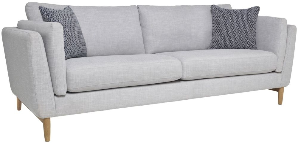 Ercol Favara 3 Seater Large Fabric Sofa