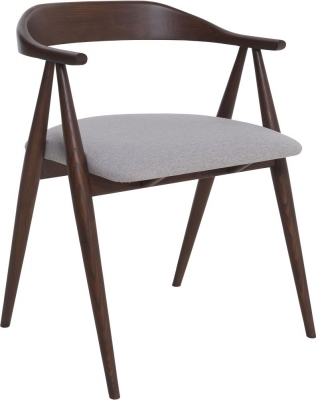 Ercol Lugo Tulipwood Grey Fabric Armchair