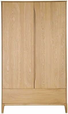 Ercol Rimini Oak 2 Door Wardrobe