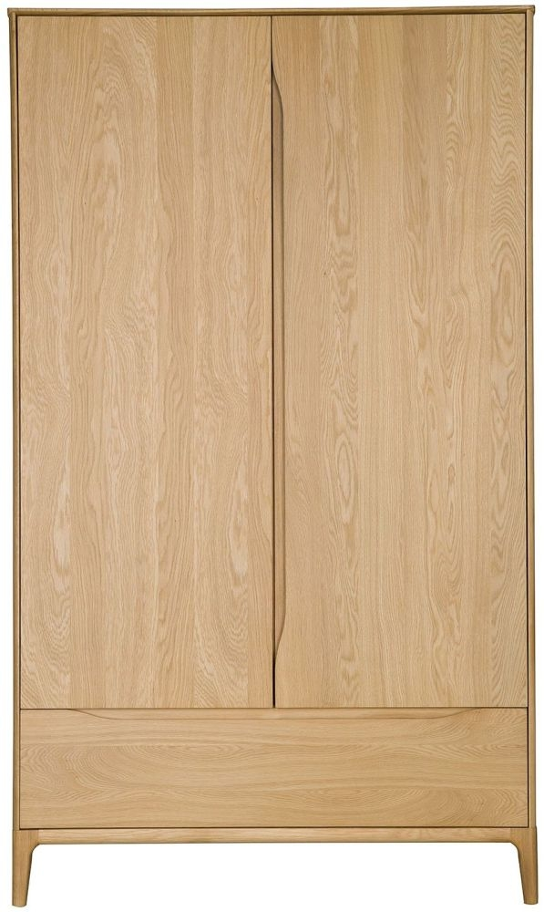 Ercol Rimini Oak 2 Door Wardrobe