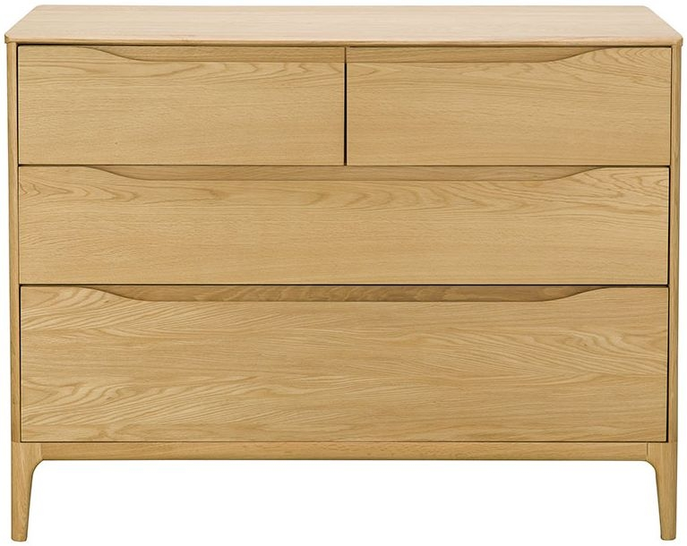 Ercol Rimini Oak 4 Drawer Chest