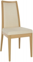 Ercol Romana Padded Back Dining Chair - Oak