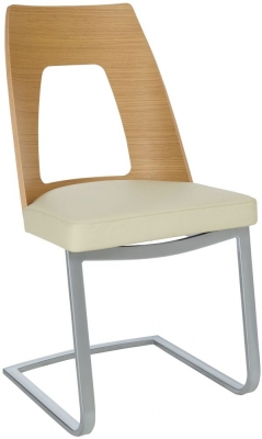 Ercol Romana Oak Cantilevered Dining Chair