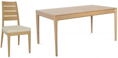 Ercol Romana Oak Medium Extending Dining Set with 6 Chairs
