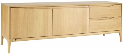 Ercol Romana Oak Wide IR TV Unit