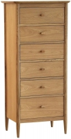 Ercol Teramo Oak 6 Drawer Tall Chest