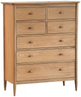 Ercol Teramo Oak 7 Drawer Tall Wide Chest