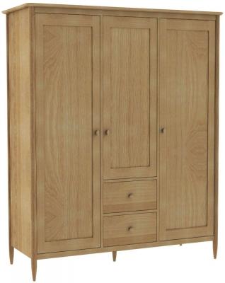 Ercol Teramo Oak 3 Door Wardrobe
