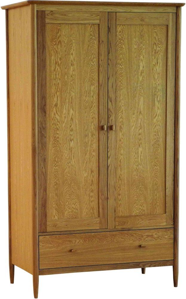 Ercol Teramo Oak 2 Door Wardrobe