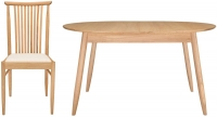 Ercol Teramo Small Extending Dining Table and 4 Chairs - Oak