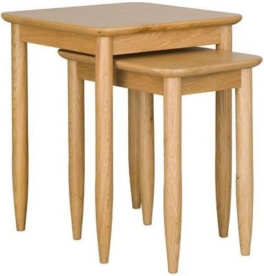 Ercol Teramo Oak Nest of Tables