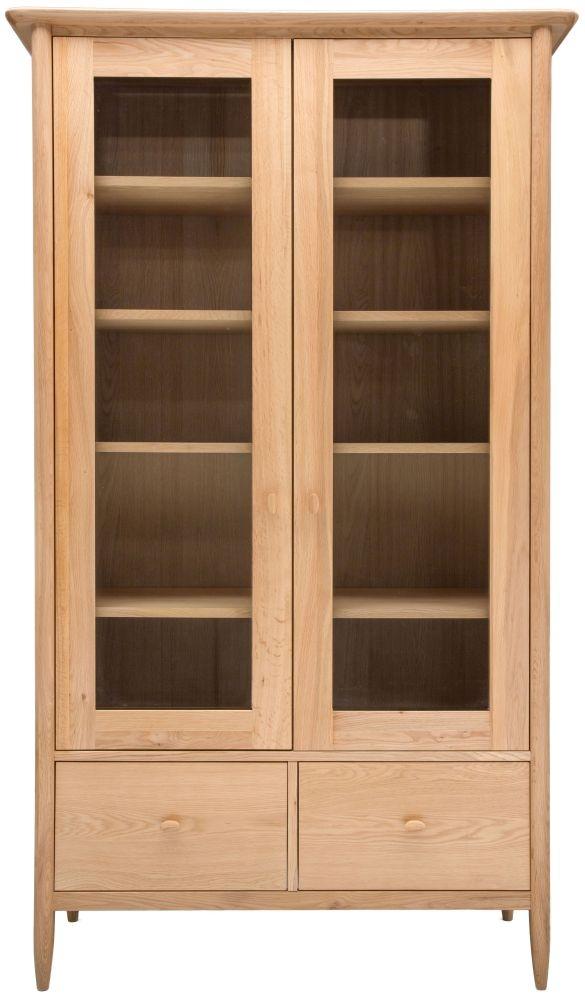 Ercol Teramo Oak Display Cabinet