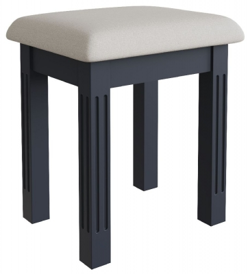 Ashby Midnight Grey Painted Bedroom Stool