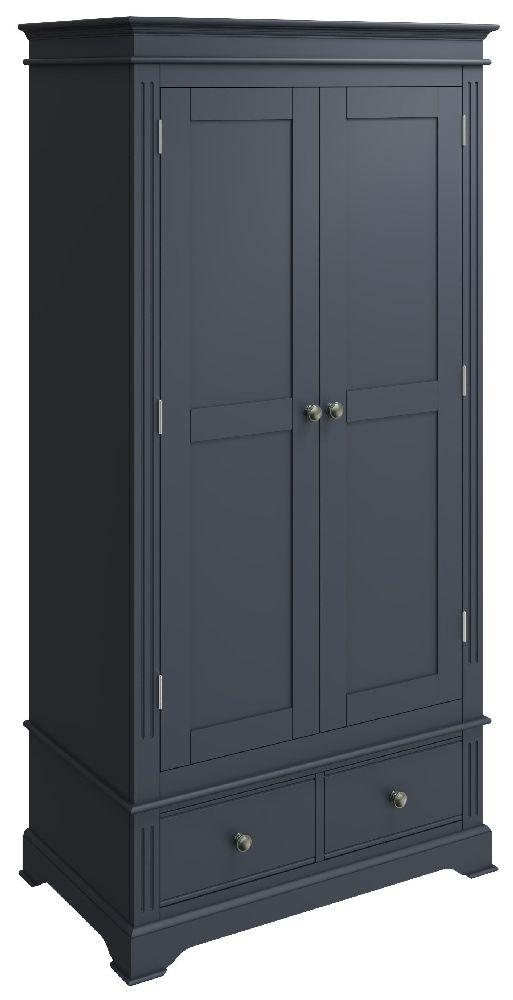 Ashby Midnight Grey Painted 2 Door 2 Drawer Wardrobe