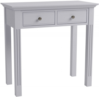 Ashby Moonlight Grey Painted 2 Drawer Dressing Table