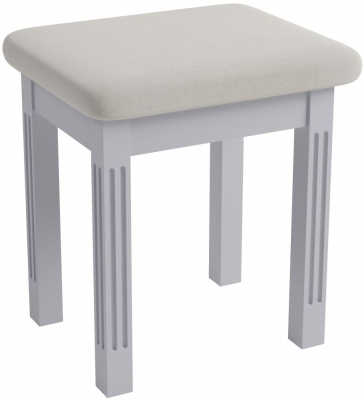 Ashby Moonlight Grey Painted Bedroom Stool