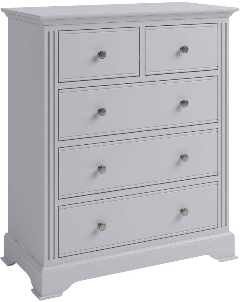 Ashby Moonlight Grey Painted 2+3 Drawer Chest