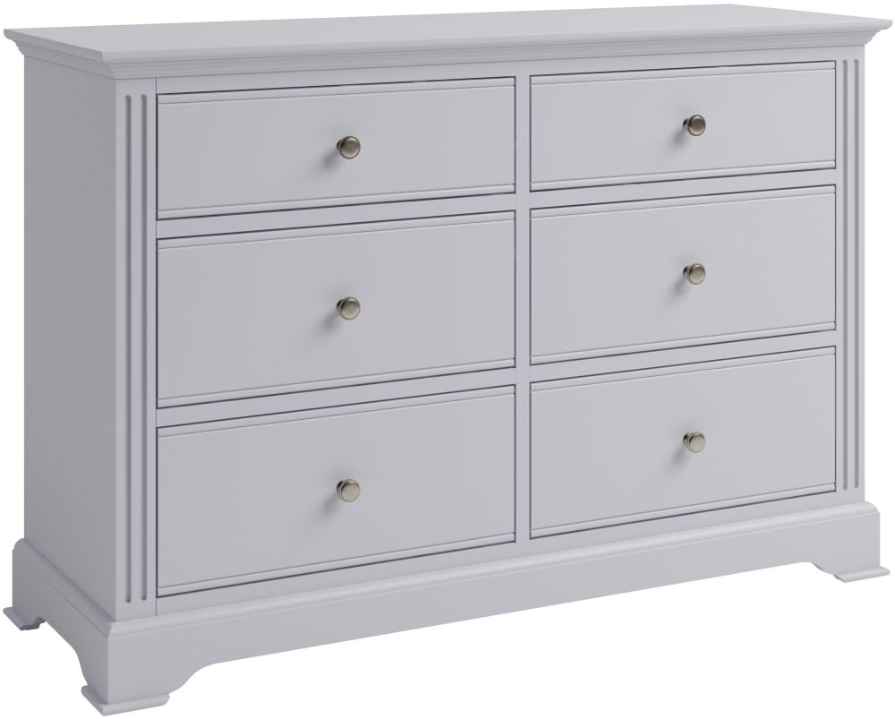 Ashby Moonlight Grey Painted 6 Drawer Chest