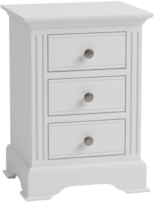 Ashby White Painted 3 Drawer Bedside Cabinet