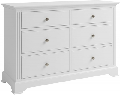 Ashby White Painted 6 Drawer Chest